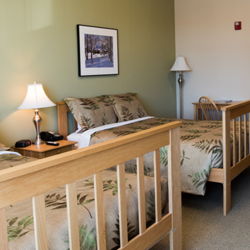 40+ lodging room options